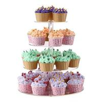Acrylic 4 layer Cake Stand Wedding Cakes Round Cup Cupcake Holder Birthday Party Dessert Stands Display Cupcake Stands