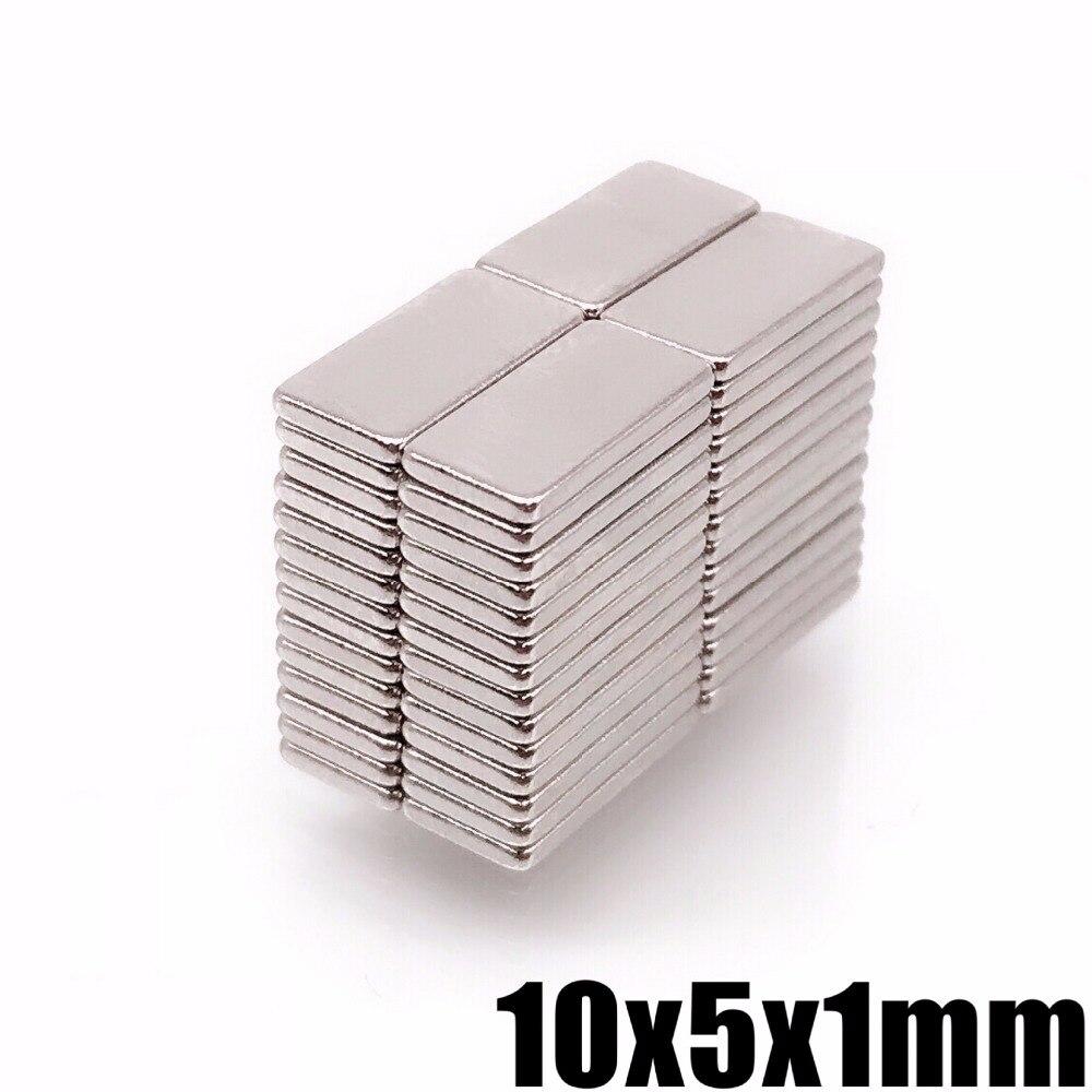 1000pcs lot N35 Rectangular magnet f 10x5x1 mm Super Strong Neodymium magnet 10 5 1 mm