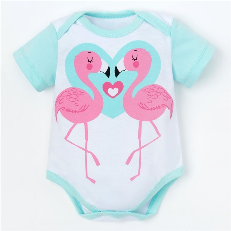 Bodysuit Crumb I Cute flamingo height 86-92 cm, (P-P 28), white 3856841 dress with bow 92 110 cm