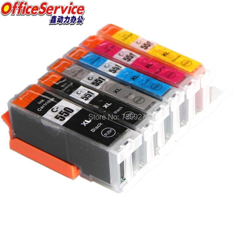 PGI-550 CLI-551 PGI550XL CLI551 Совместимый Картридж для струйного принтера Canon MG6350 MG7150 IP8750 MG6450 Ip7250 MX925