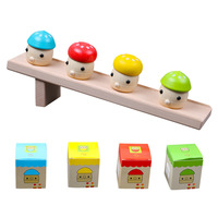 Kids Wooden Toys Funny Swing Mushroom Slide Great Gift High Quality Beech Slide Puzzles Wood Early Educational Toys For Children