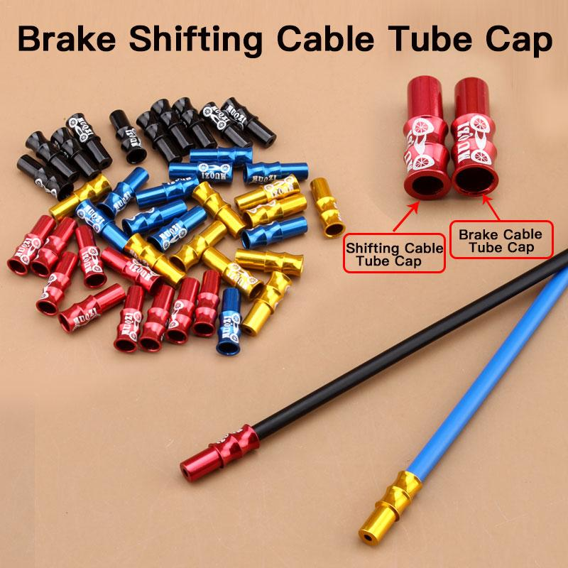 10 Pcs Aluminum Alloy Cycling Bike Brake Cable Tips Crimps Bicycles Derailleur Shift Cable End Caps CoreInner Wire Ferrules New