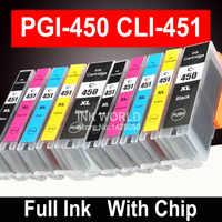 PGI-450 PGI450 CLI 451 compatible cartouche d'encre Pour canon PIXMA MG5440 MG5540 MG5640 MG6440 Ip7240 MX924 IX6840 imprimante