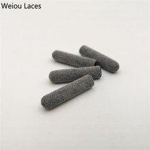 Weiou 4 шт./1 Набор 3 м светоотражающие пластиковые наконечники 22 мм* 5 мм роскошные серые Aglets для толстовок шнурки DIY наборы кроссовок