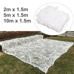 Poliester biały kamuflaż siatka ogrodowa osłona przeciwsłoneczna tkanina baldachim Camping strona dekoracji fotografia Camo plandeka namiotowa schronisko