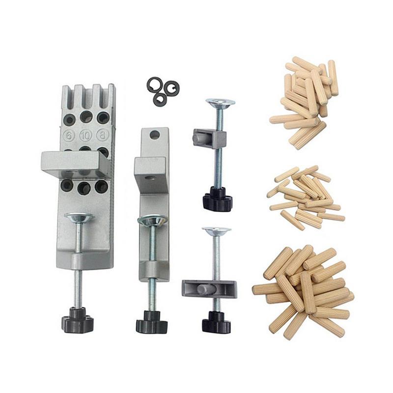 Ensemble de douilles de guidage de foret à pied outil de localisation de Guide de perçage de cheville en bois