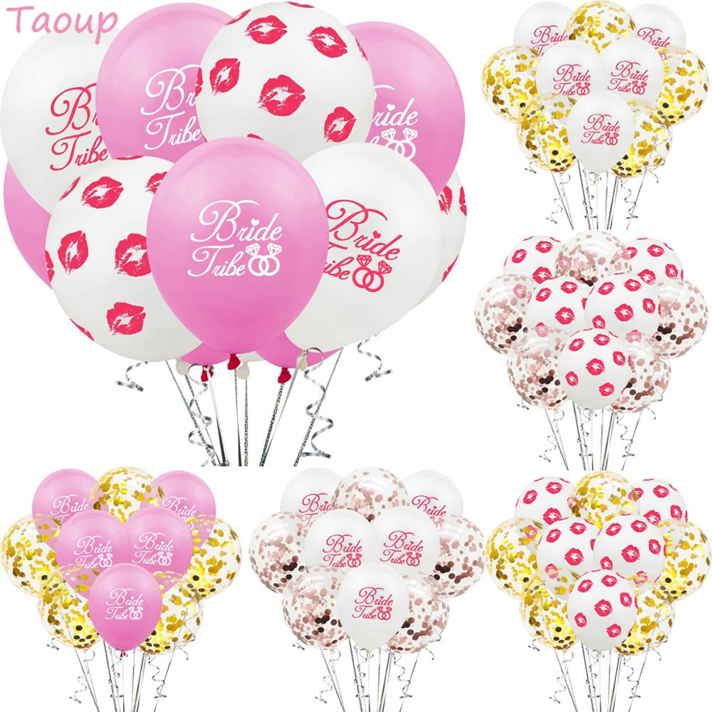 Taoup Bride Balloons Confetti Baloons Bachelorette Party Supplies Hen Favors Wedding Love Team to Be Bridal Shower
