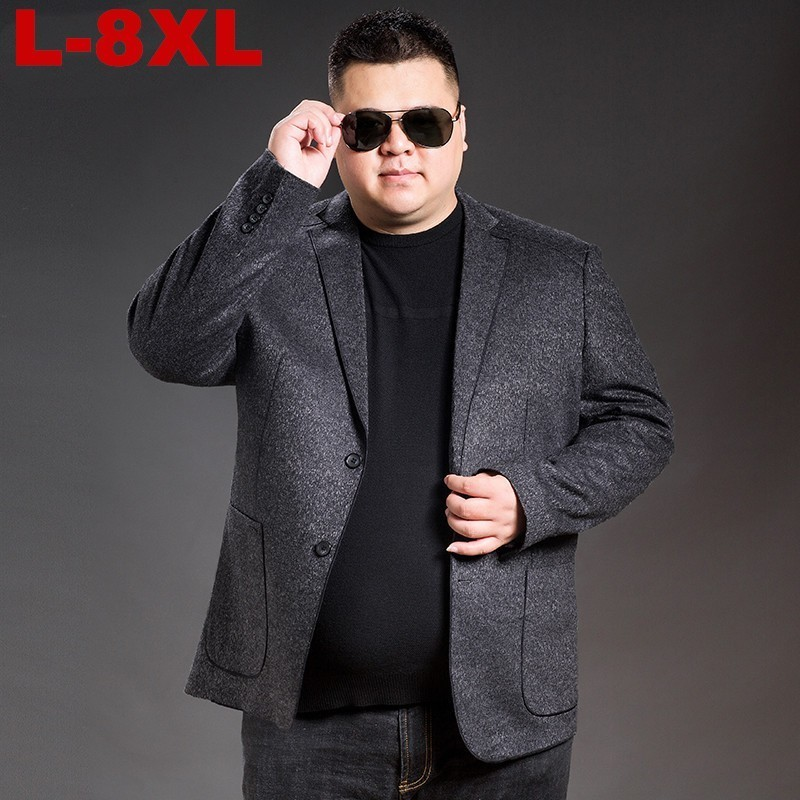 NEW 8XL 7XL 6XL 5XL Plus Size Business Affairs Leisure Time  Casual Clothes Single Western Guy Loose Coat All-match Tide