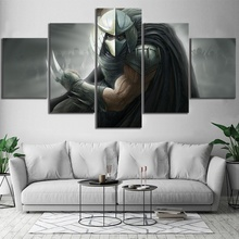 5 Piece Teenage Mutant Ninja Turtles Shredder Artwork Video Game Poster Canvas Art Wall Painting for Living Room Decor
