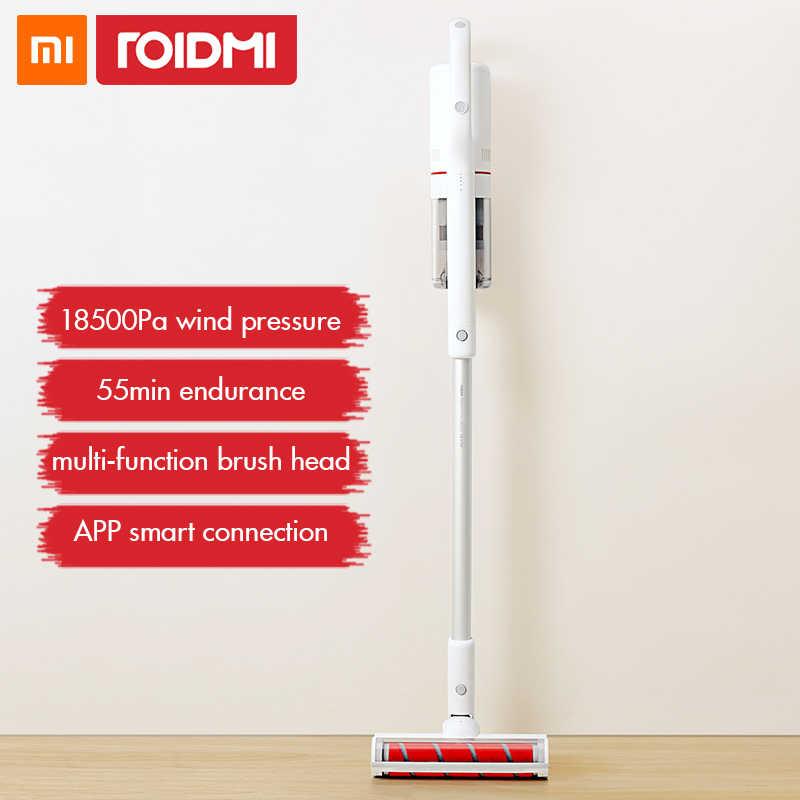 Xiaomi Roidmi F8 aspiradora de mano para casa colector de polvo bajo ruido aspirador Led Bluetooth multifuncional
