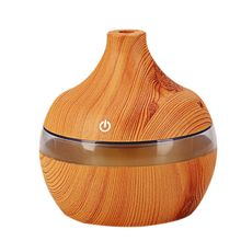 EAS-Wood Grain Aromatherapy USB Humidifier Water Droplets Air Purification essential oil aroma diffuser Creative home grain
