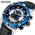 Часы MEGIR мужские  кварцевые  водонепроницаемые  спортивные