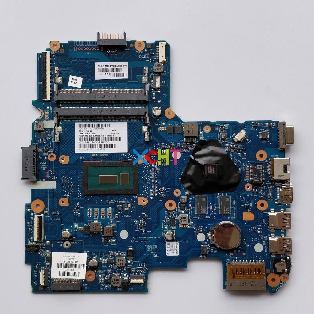 817889-601 817889-501 817889-001 w i5-5200U CPU 6050A2730001-MB-A01 R5/M330 2G for HP 240 246 G4 Laptop PC Motherboard Mainboard817889-601 817889-501 817889-001 w i5-5200U CPU 6050A2730001-MB-A01 R5/M330 2G for HP 240 246 G4 Laptop PC Motherboard Mainboard