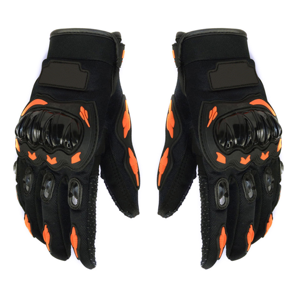 Full Finger Motorcycle Gloves Breathable Perforated Motorbike Racing Glove Suit for All Seasons Non-slip Bicycle Glove