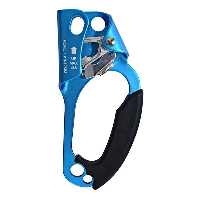 Sistema de seguridad de aluminio, escalada, montañismo uso de mano elevador Abrazadera para 8-12mm herramienta de cuerda al aire libre