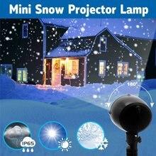 308dd627e79 Mini Nevada proyector IP65 mover nieve de jardín al aire libre lámpara de  Proyector láser Navidad copo de nieve luz de láser par.