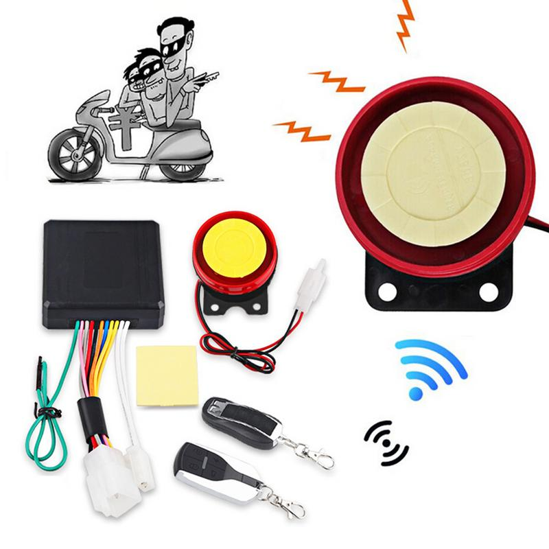Motorcycle Car Siren Anti-Theft Security Alarm Auto Engine Start 125db Universal Motorbike Double Remote Control Engine