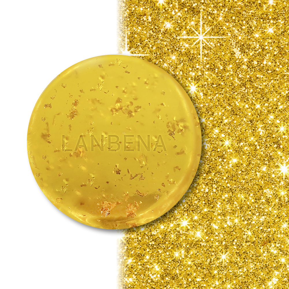 LANBENA 24K Gold Handmade Soap Anti-Aging Seaweed Deep Cleansing Moisturizing Nourishing Whitening Anti-Wrinkle Beauty Face Care