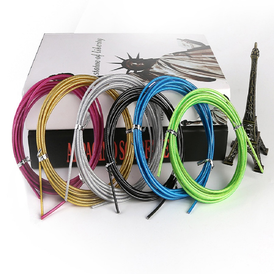 Crossfit Spare Jump Rope Crossfit Replaceable Wire Cable Speed Jumping Ropes Workout Skipping Rope Training Fitness Equipments