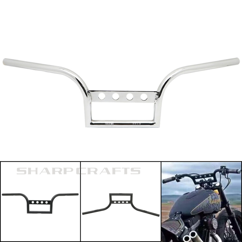 """Motorcycle 1"""" 25mm Drag Handlebar Handle Bar For Harley Sportster XL883 XL1200 Dyna FLD Softail FLST FXST Chopper Bobber Cruiser-in Handlebar from Automobiles & Motorcycles    1"""