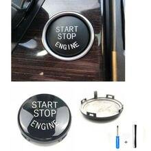 Кнопка запуска двигателя переключатель для BMW 3 серии E90 E93 2005-12 ключ Декор Замена кольцо отделка крышка комплект