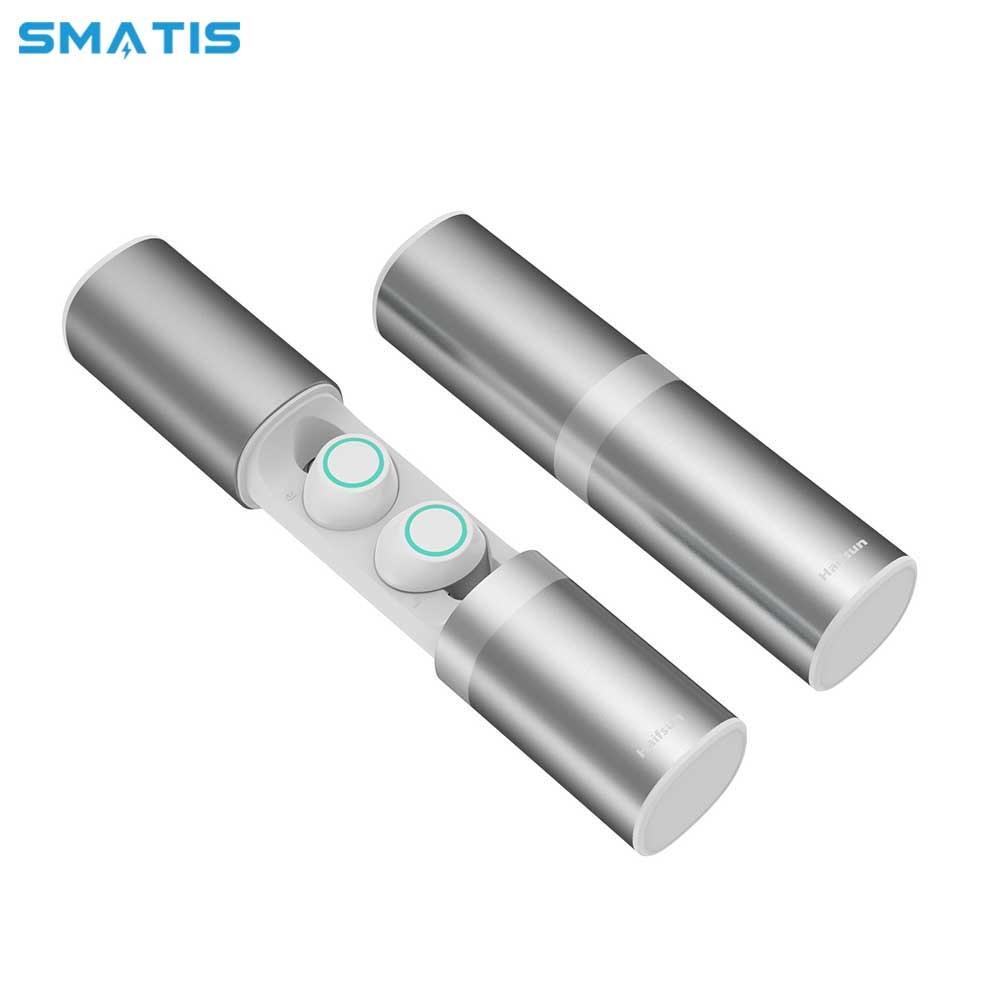 Samload True Wireless Stereo Headphones Bluetooth Earbud Headphones Hifi Sound with 3000mAh Charge Box Powerbank For