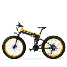 26inch Folding Electric Mountain Bicycle Snow Ebike Electric Fat Bike 48v Lithium Battery 500w High Speed Motor 4.0 Tire Bike mountain bike fat 48v 500w samsung lithium battery electric bicycle 10 an large capacity 27 speed 26 x 4 0 electric snow bike