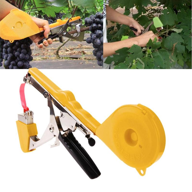 Tying Machine Set Garden Plant Tapetool Tapener With 10 Rolls Tape + 1 Box Nail Set For Vegetable Grape Garden Pruning Tools