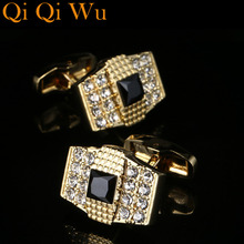 Cufflinks For Mens Gift High Quality Brand Gold Color Metal Cuff Buttons Men Wedding Business Cufflinks Free Shipping Qi Qi Wu vintage sell high buy now stock market cufflinks for men shirt cuff buttons business sleeve nail steel brothers gift for friend