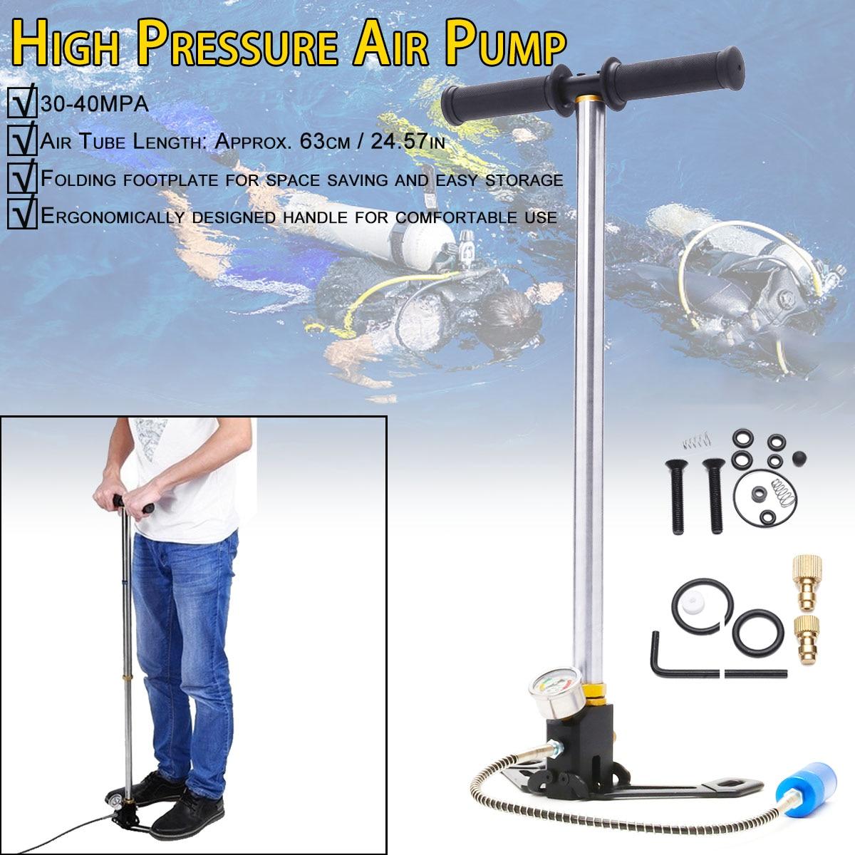 Mini pompe manuelle d'équipement de plongée pour 0.5L Mini réservoir d'air d'oxygène de plongée pour SMACO accessoires de respiration sous-marine de rechange