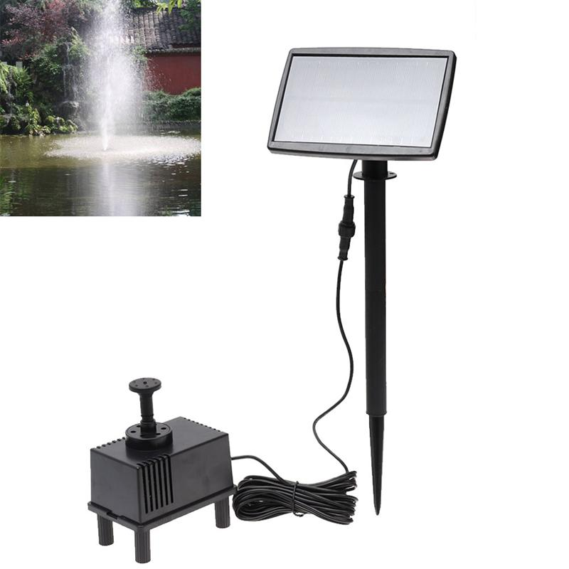 Solar Power Fountain Pool Water Pump Panel Submersible Watering For Garden Pool Pond Patio Decoration - 5M