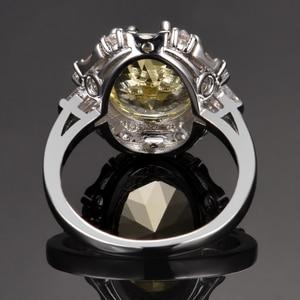 Image 4 - Nasiya utworzono cytrynowe pierścienie z kamieniami szlachetnymi dla kobiet prawdziwe 925 srebro biżuteria pierścionek rocznica ślubu Paty prezent hurtownia