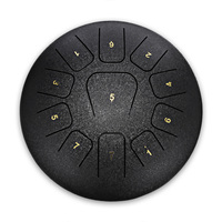 12 Inch 11 Tones Steel Tongue Drum Professional Tongue Drum Percussion Instrument With Padded Bag For Music Education