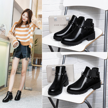 2018 New Arrivals Soft Leather Ankle Boots Women Comfortable Mid Heels For Ladies Spring Autumn Shoes Black