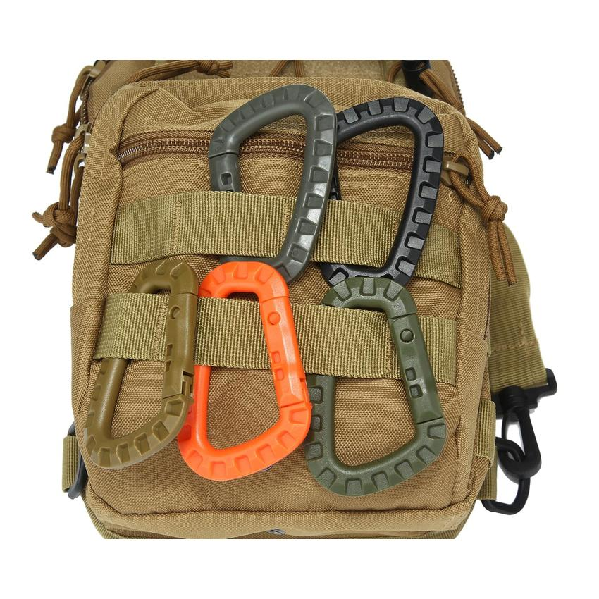 Hang Webbing Buckle Hiking Climbing Carabiner Clip with key hooks