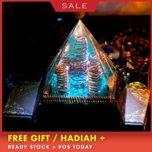 AURA REIKI Orgonite MineralCrystal Chakra Pyramid Reiki Energy Converter Improve Fortune Resin Pyramid Crafts Decoration Gift aura reiki orgonite pyramid aochen energy tower pyramid crystal decoration love gathering home resin decorative craft jewelry