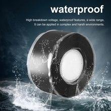 0,5/1,5/3 м многоцелевой самоклеющийся крепкий черный резиновый силиконовый ремонтный водонепроницаемый клейкий скотч спасательный самоплавящийся провод
