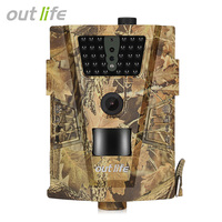 Outlife Trail Camera 12MP 1080P 30pcs Infra LEDs 850nm Hunting Camera IP65 Waterproof 120 Degree Angle Wild Camera