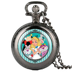 Часы карманные часы на цепочке для женщин Белоснежка рисунок ретро карманные часы цепочки и ожерелья Творческий Подарочные карманные часы