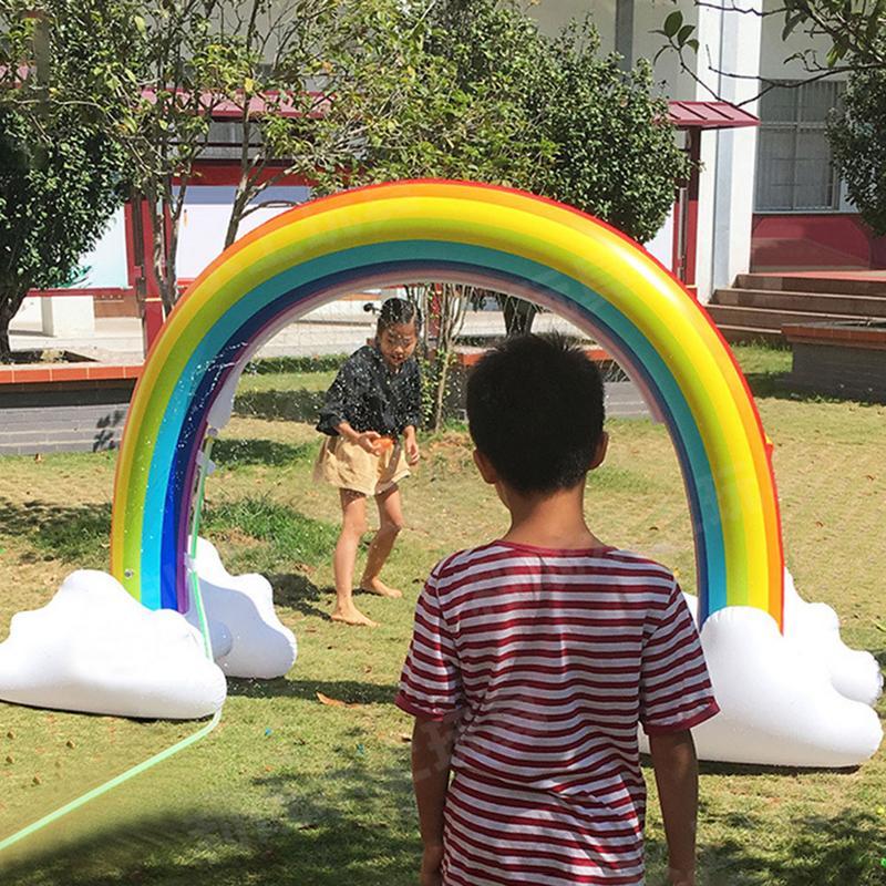 Jouet d'arrosage Portable arc-en-ciel gonflable innovant pour enfants jouet gonflable pour enfants - 4