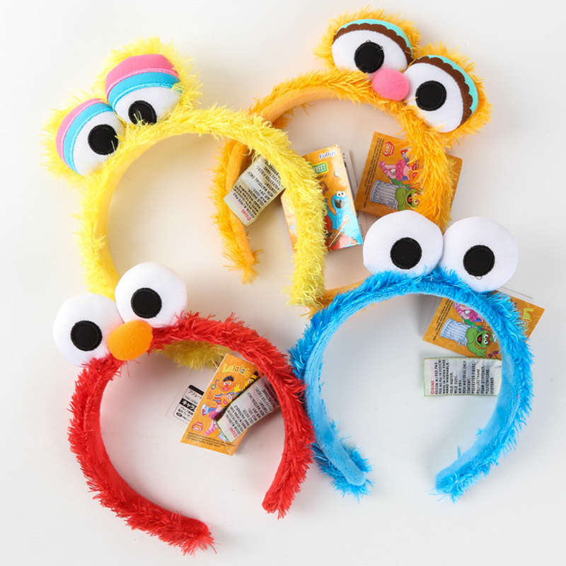 Cartoon Toys For Children Kid's Party Sesame Street Hairband Hair Hoop Hat Toys For Girl Boy Birthday Halloween
