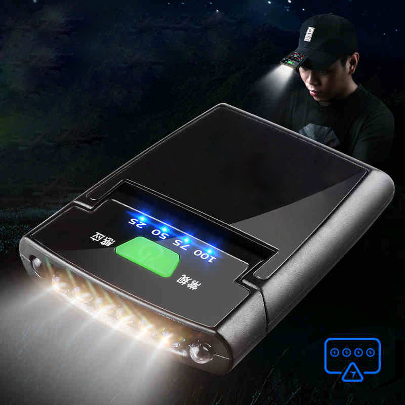 6 LED Clip-on Headlamp Adjustment Rechargeable Sensor Cap Hat Lamp Waterproof IP64 Headlight Torch Light Built-in Battery