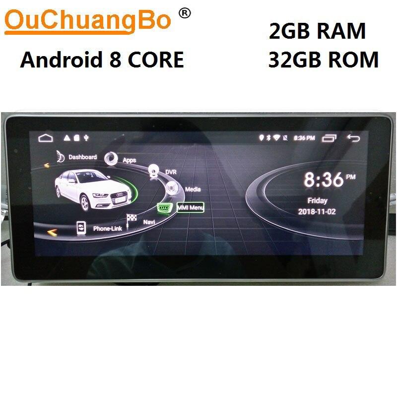 Ouchuangbo Android 8.1 gps di navigazione per Q5 A5 RS5 A4 b8 2009-2016 con il 10.25 di pollice 1080 p video 8 core 2 gb + 32 gb guida A Destra