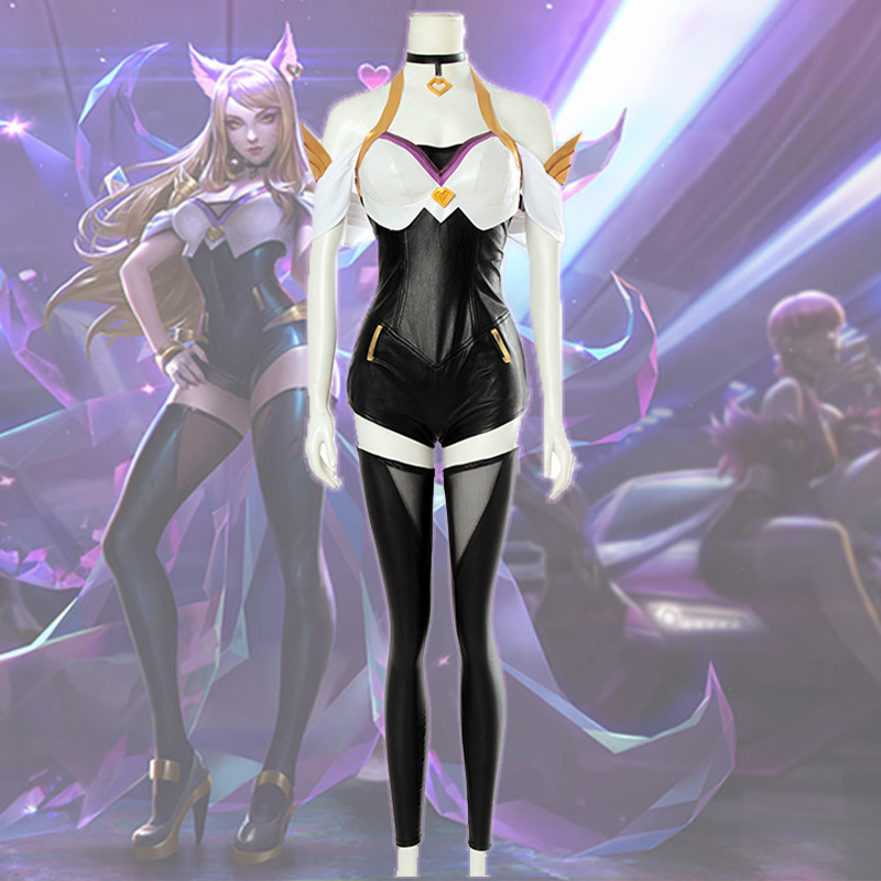 LOL KDA Cosplay Costume K/DA Ahri Cosplay Costume Jumpsuit Adult LOL Halloween Carnival Party Costume