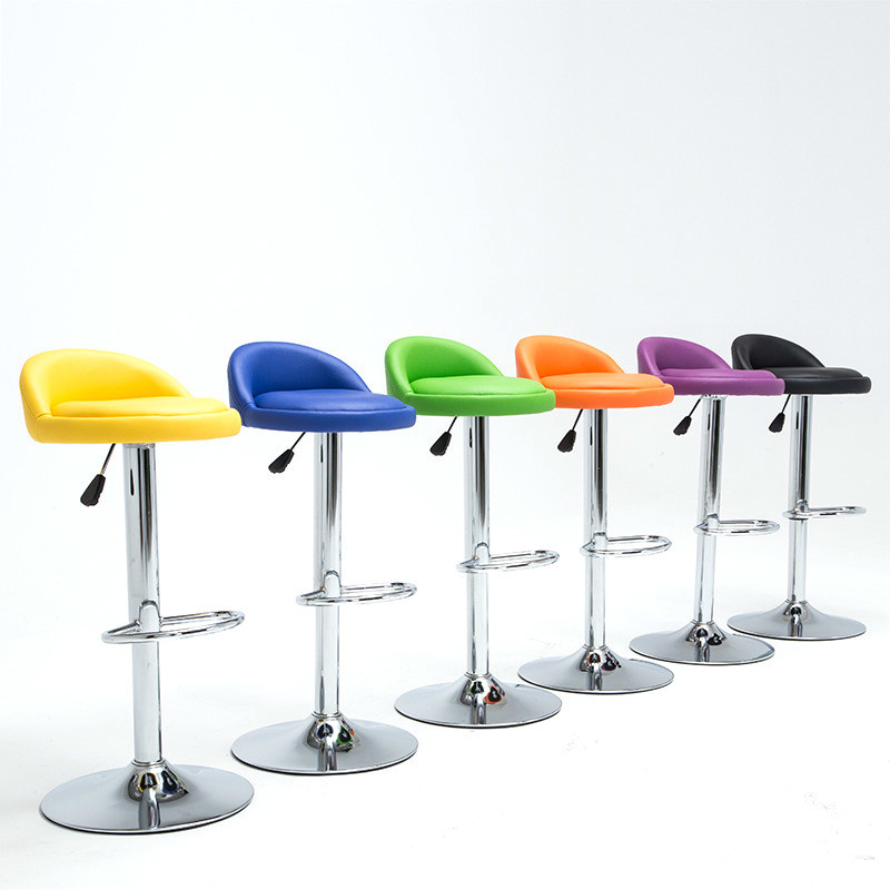 Simple Design Swivel Bar Chair Lifting Bar Stool Rotatable Adjustable Height Reception/Waiting Room Chair High Quality Cadeira