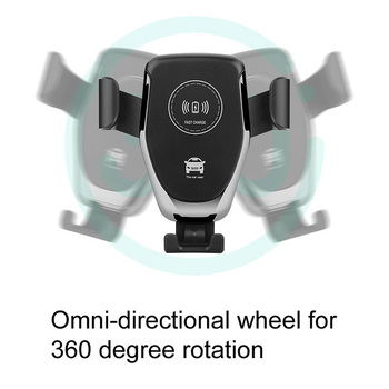 10w qi wireless fast charger for car with mount holder stand for mobile phones