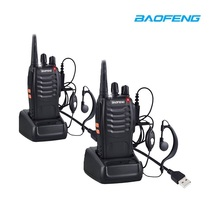 2 шт. BaoFeng BF-888S портативная рация USB Зарядка адаптер двухстороннее радио BF-888s UHF 400-470 мГц 16CH портативный трансивер + наушник