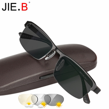 JIE.B Transition Sunglasses Photochromic Reading Glasses for Men Hyperopia Presbyopia with diopters Outdoor