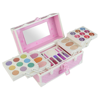 Cosmetic Set Simulation Dressing Table Makeup Toy Makeup Palette Eye Shadow Nail Polish Water Powder for Girls Kids Gift