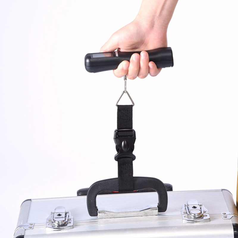 1Set Pocket Electronic Digital Scale 10G/40Kg Hanging Luggage Weight Balance Steelyard Black Fishing Hook Scale Weighing Scale